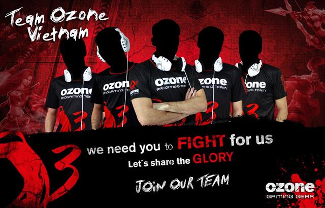 Ozone Gaming tuyển chọn thành viên cho Ozone Vietnam 3