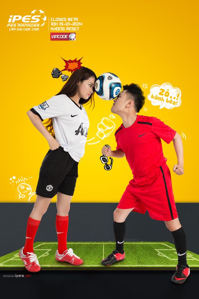 Don Nguyễn quảng bá iPES cùng hot girl bánh tráng trộn 3