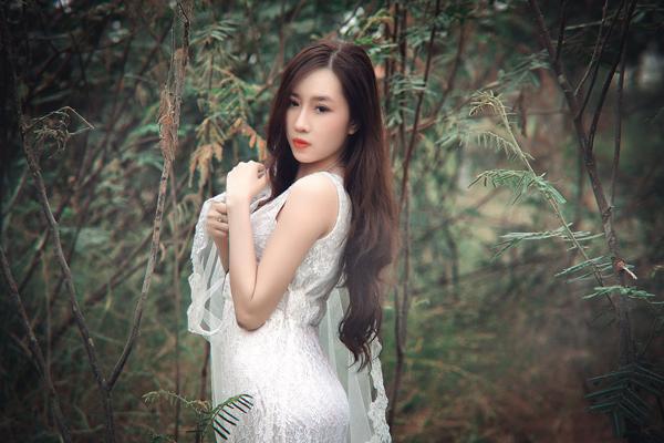 """Hot girl Cầu Trường Rực Lửa hóa thành """"cô dâu ma mị"""" - Ảnh 2"""