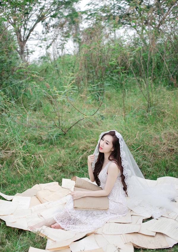 """Hot girl Cầu Trường Rực Lửa hóa thành """"cô dâu ma mị"""" - Ảnh 5"""