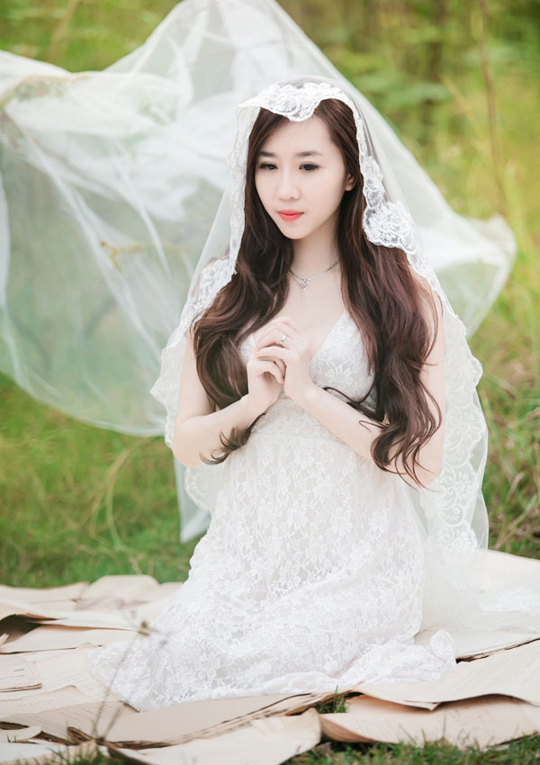"""Hot girl Cầu Trường Rực Lửa hóa thành """"cô dâu ma mị"""" - Ảnh 9"""