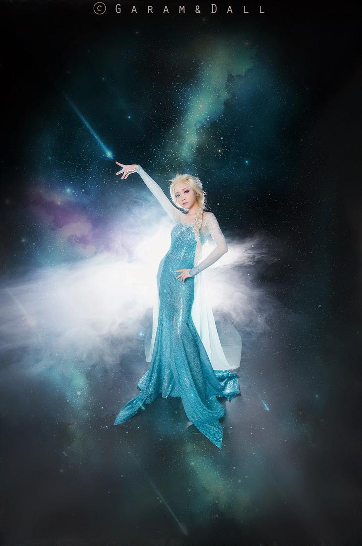 Tomia hóa thân thành nữ hoàng băng giá Elsa - Ảnh 3