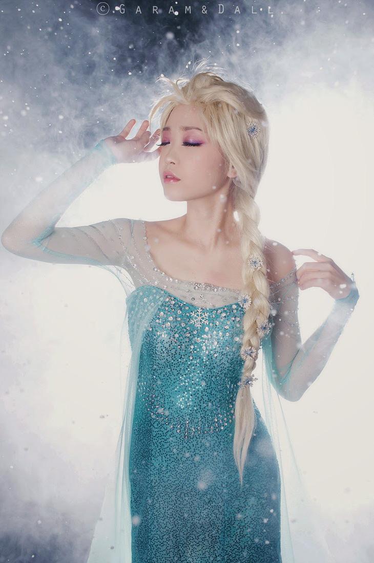 Tomia hóa thân thành nữ hoàng băng giá Elsa - Ảnh 6