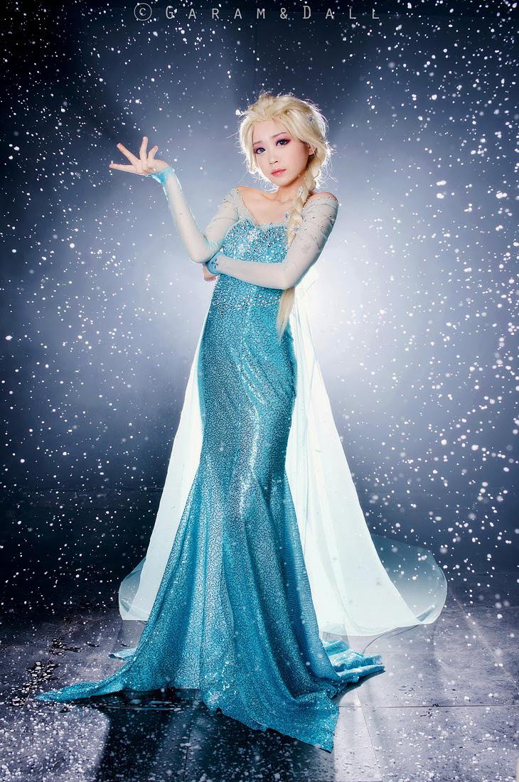Tomia hóa thân thành nữ hoàng băng giá Elsa - Ảnh 7