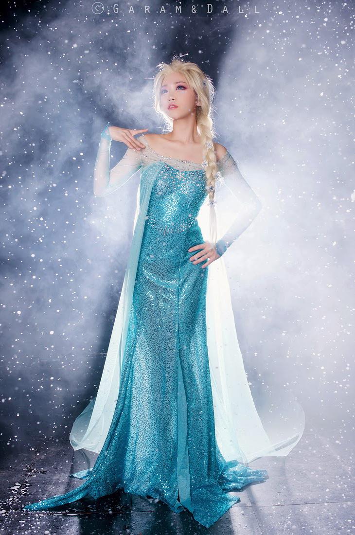 Tomia hóa thân thành nữ hoàng băng giá Elsa - Ảnh 9