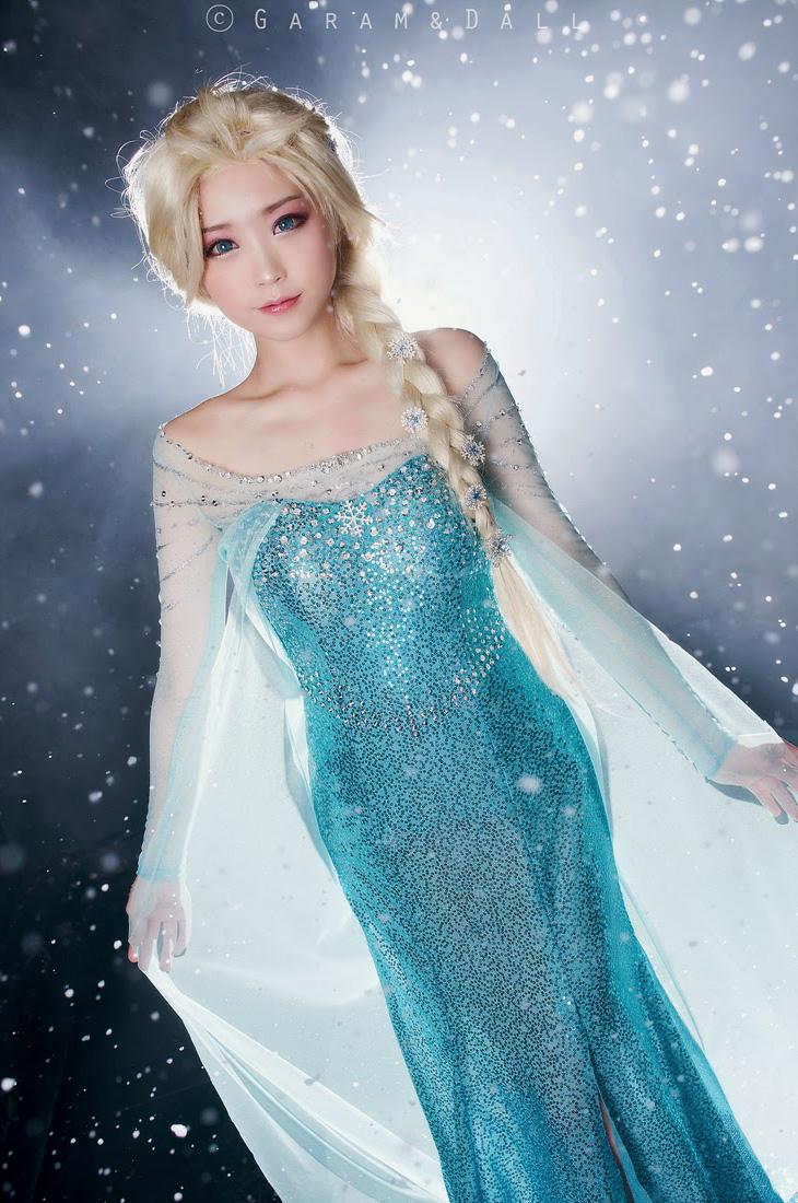 Tomia hóa thân thành nữ hoàng băng giá Elsa - Ảnh 10