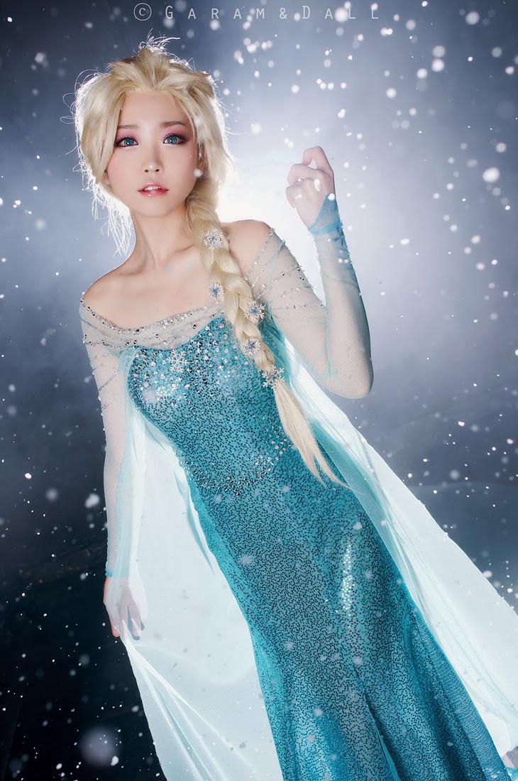 Tomia hóa thân thành nữ hoàng băng giá Elsa - Ảnh 11