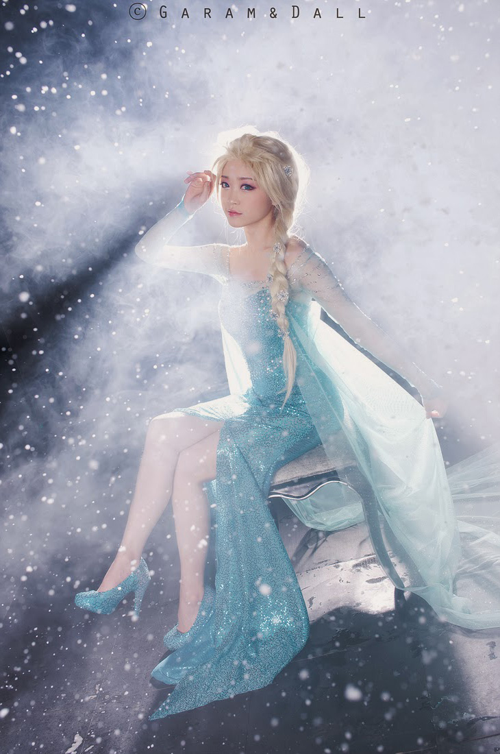 Tomia hóa thân thành nữ hoàng băng giá Elsa - Ảnh 12