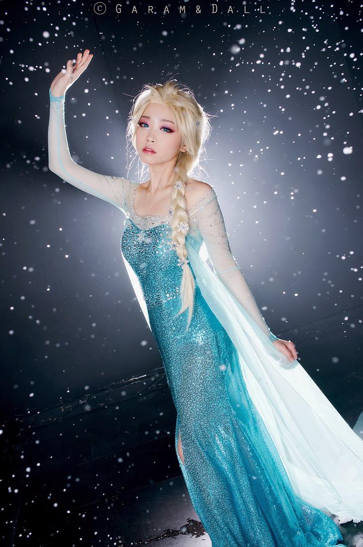 Tomia hóa thân thành nữ hoàng băng giá Elsa - Ảnh 13