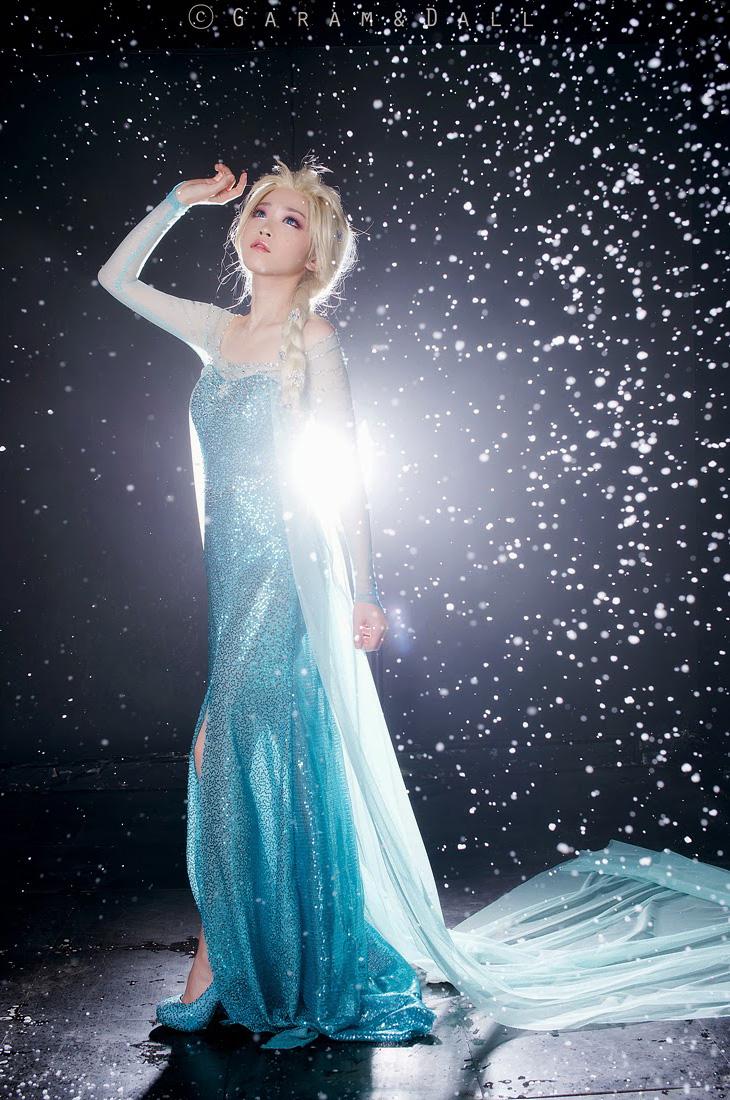 Tomia hóa thân thành nữ hoàng băng giá Elsa - Ảnh 14