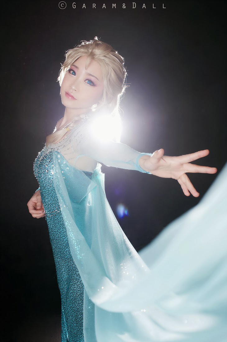 Tomia hóa thân thành nữ hoàng băng giá Elsa - Ảnh 16