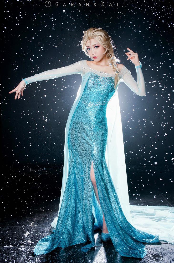 Tomia hóa thân thành nữ hoàng băng giá Elsa - Ảnh 18