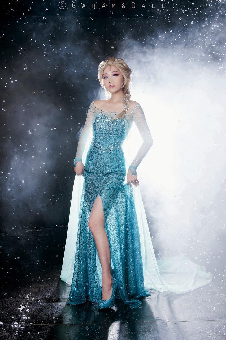 Tomia hóa thân thành nữ hoàng băng giá Elsa - Ảnh 19