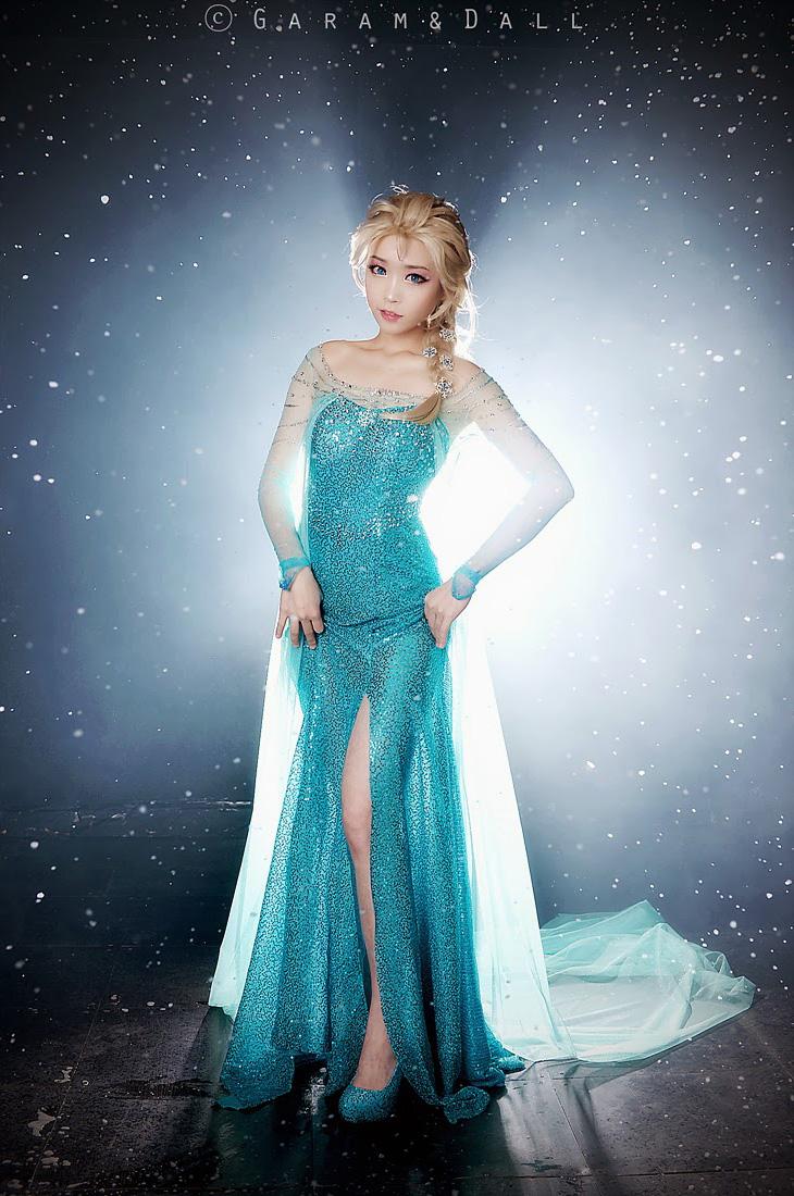 Tomia hóa thân thành nữ hoàng băng giá Elsa - Ảnh 20