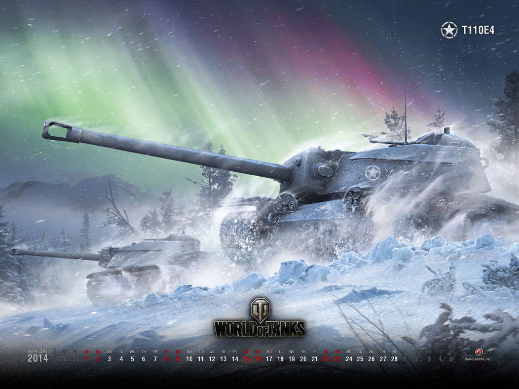 Hình nền lịch tháng 02/2014 của World of Tanks - Ảnh 1