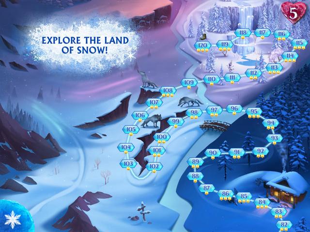 Người tuyết Olaf có mặt trong Frozen Free Fall 1