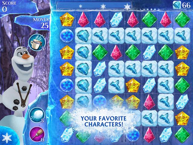 Người tuyết Olaf có mặt trong Frozen Free Fall 2