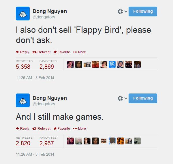 Flappy Bird đã được gỡ khỏi App Store và Google Play 3