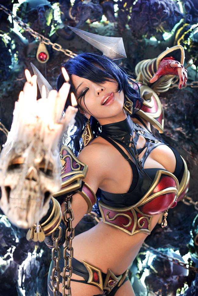 Dota 2: Cosplay Queen of Pain cực chất của Tasha 9