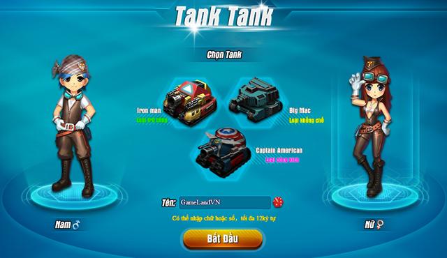 Tamtay mở cửa thử nghiệm webgame Tank Tank 1