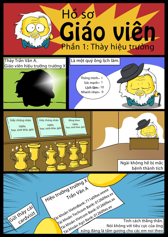 Comic School Cheater tập 1: Thày hiệu trưởng