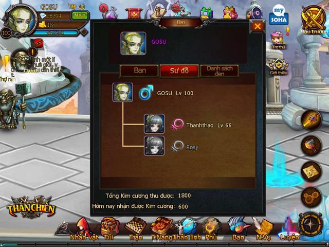 Thần Chiến tặng giftcode Valentine đón phiên bản mới 2