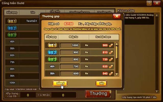 """Người chơi Gunny hào hứng với """"tặng phẩm guild"""" 2"""