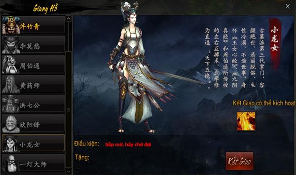Tiểu Long Nữ trở thành pet trong Hoành Tảo Thiên Hạ 2