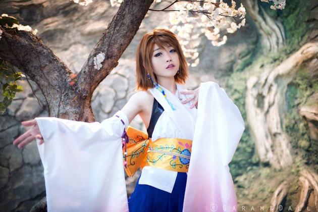 Tomia cực dễ thương với cosplay Yuna - Ảnh 3
