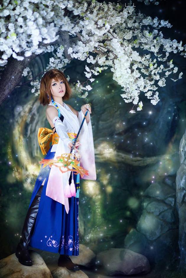 Tomia cực dễ thương với cosplay Yuna - Ảnh 4