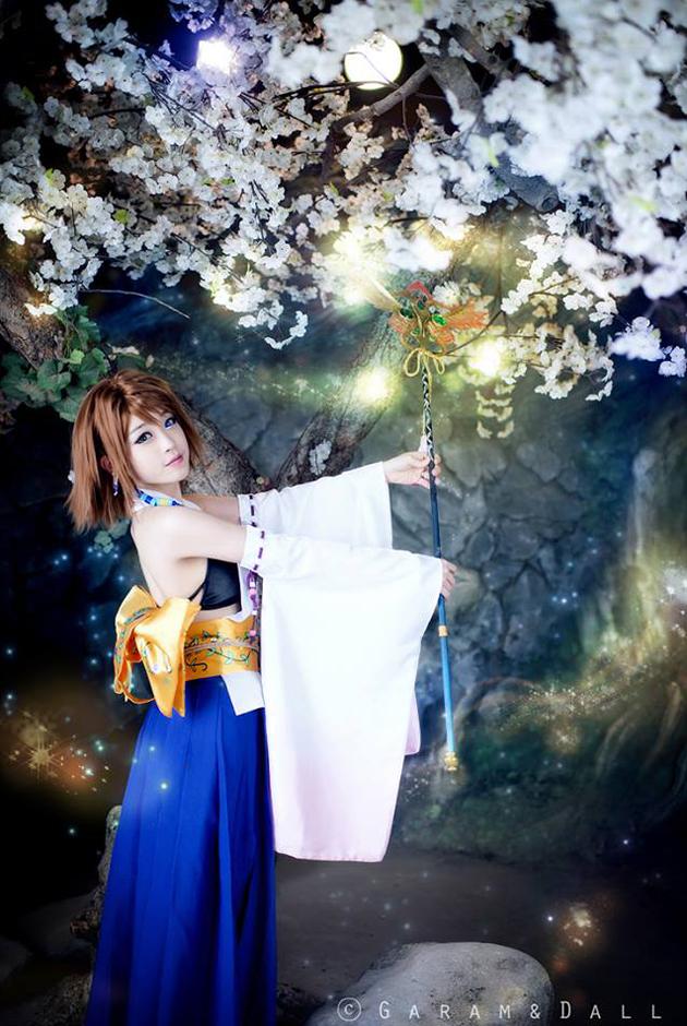 Tomia cực dễ thương với cosplay Yuna - Ảnh 17