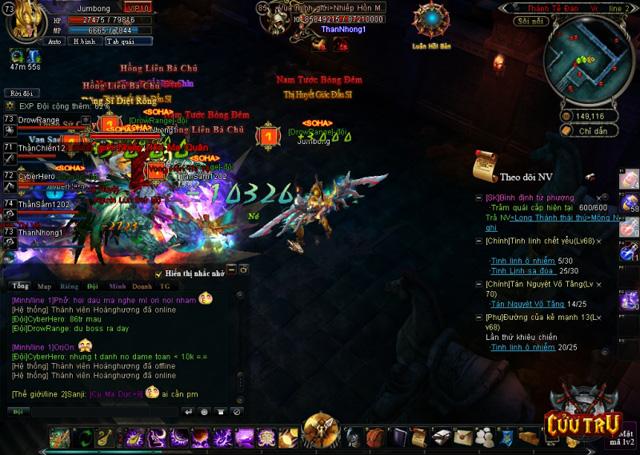 Người chơi Cửu Trụ trực chiến 28 giờ để gặp siêu boss 4