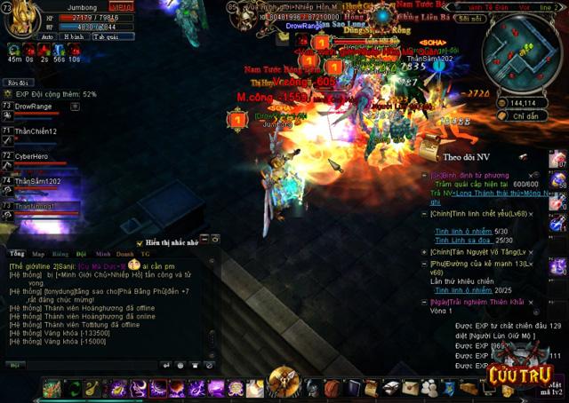 Người chơi Cửu Trụ trực chiến 28 giờ để gặp siêu boss 6