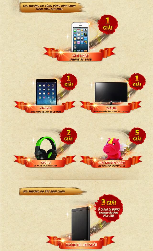 Cơ hội nhận iPhone 5S và iPad Mini từ Phong Thần 3