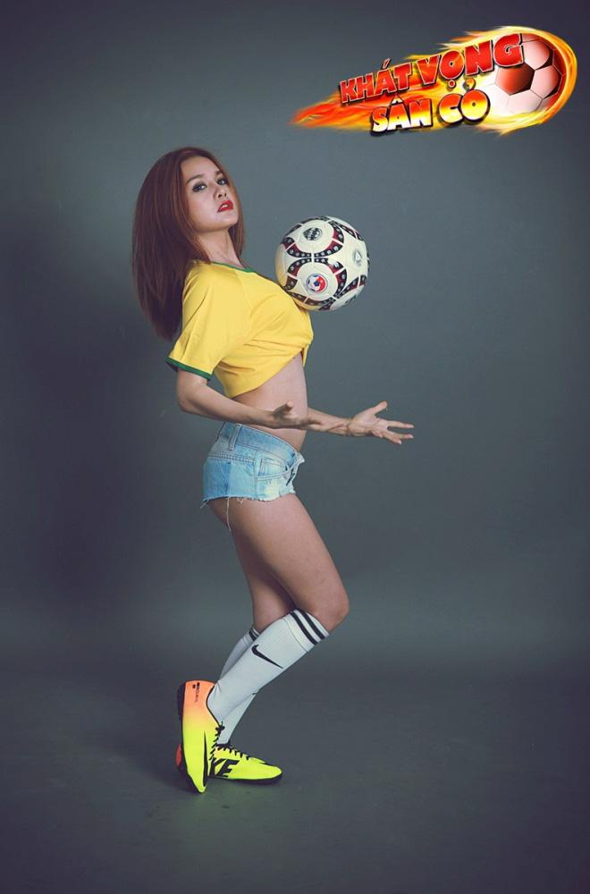 Ngắm hot girl trong ảnh quảng bá Khát Vọng Sân Cỏ - Ảnh 6