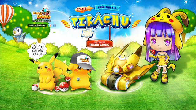 BangBang Online trình làng xe tăng mới Pikachu 1