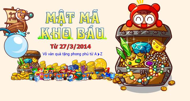 GameLandVN tặng 200 giftcode Mật Mã Kho Báu 2