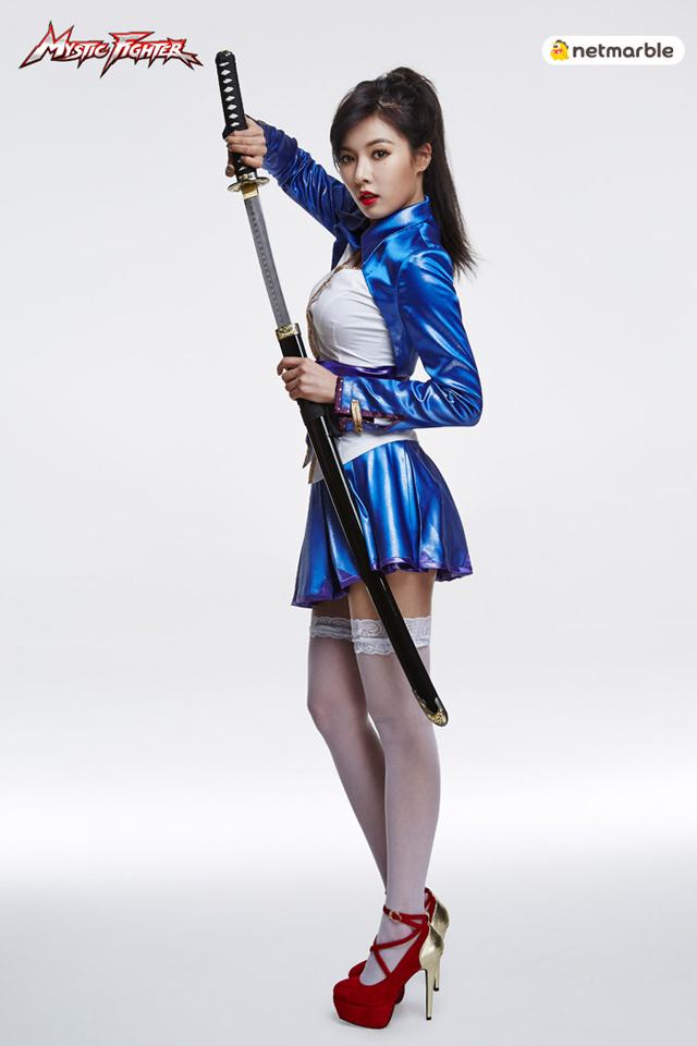 HyunA là đại sứ hình ảnh của Mystic Fighter 3