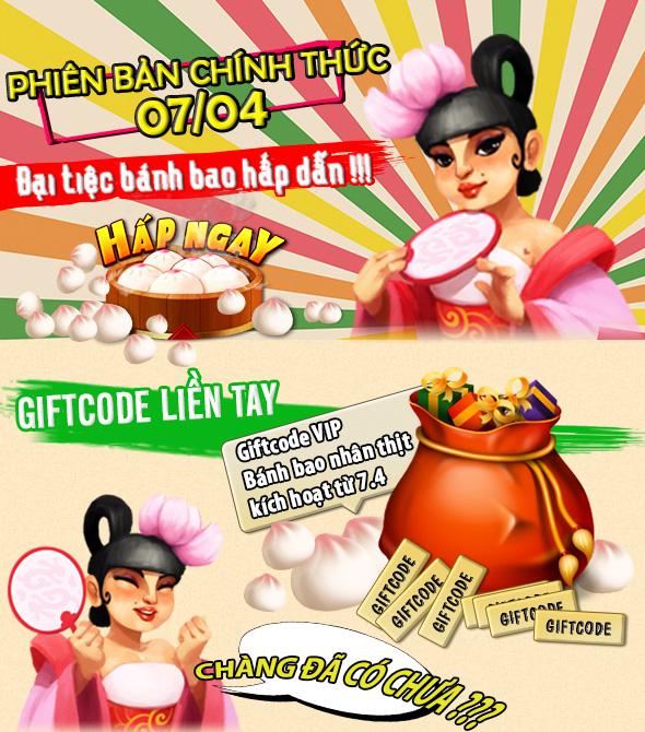 GameLandVN tặng giftcode Bánh Bao Nhân Thịt 2