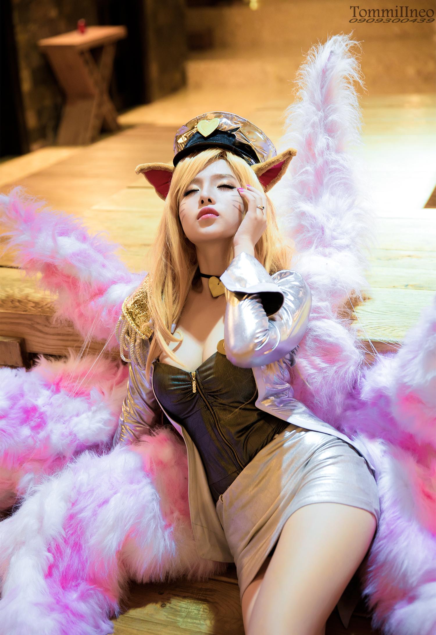 Mitu Kat cực xinh với cosplay Ahri Thần Tượng Âm Nhạc - Ảnh 2