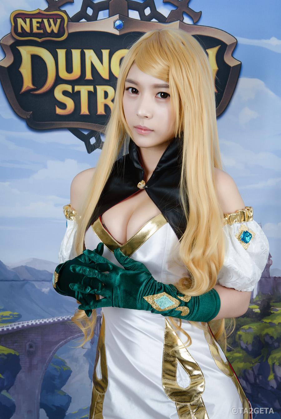 Chảy máu mũi với cosplay New Dungeon Striker - Ảnh 1