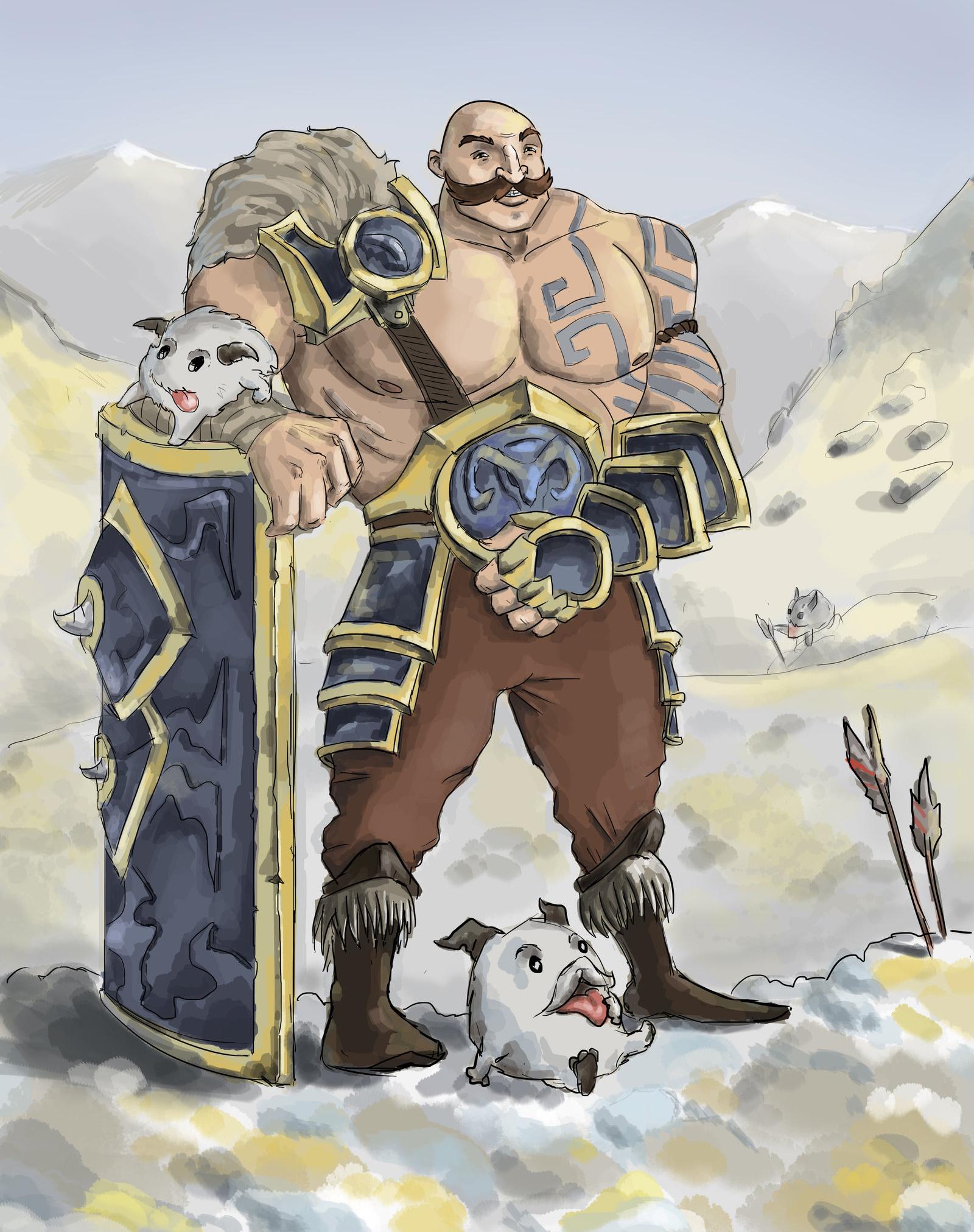 LMHT: Loạt tranh vẽ cực đẹp về Braum - Ảnh 5