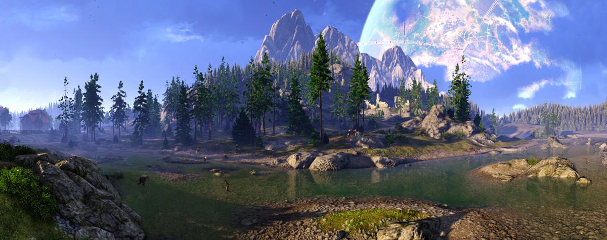 Chiêm ngưỡng phong cảnh đảo Dankit trong Skyforge