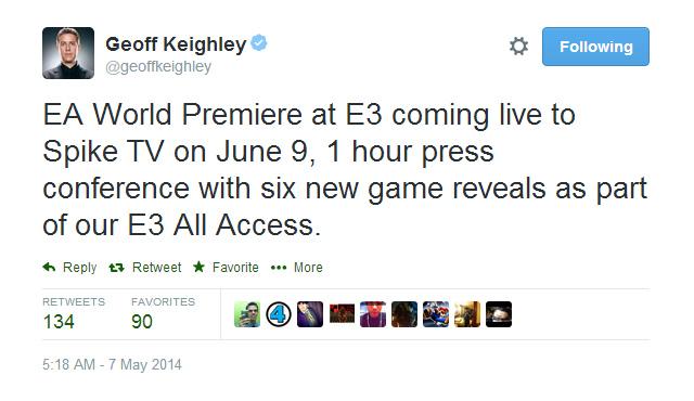 EA sẽ giới thiệu 6 game mới tại E3 2014 2
