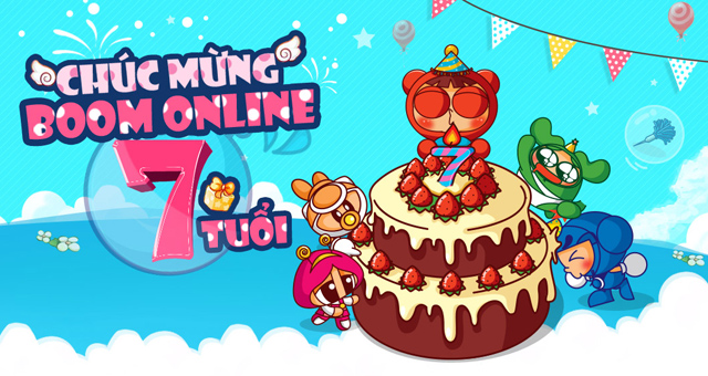 Boom Online tặng giftcode mừng sinh nhật 7 tuổi 1