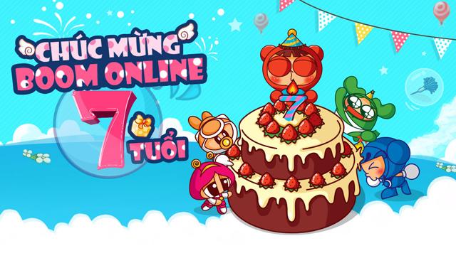 Boom Online tưng bừng sự kiện đón sinh nhật thứ 7 1