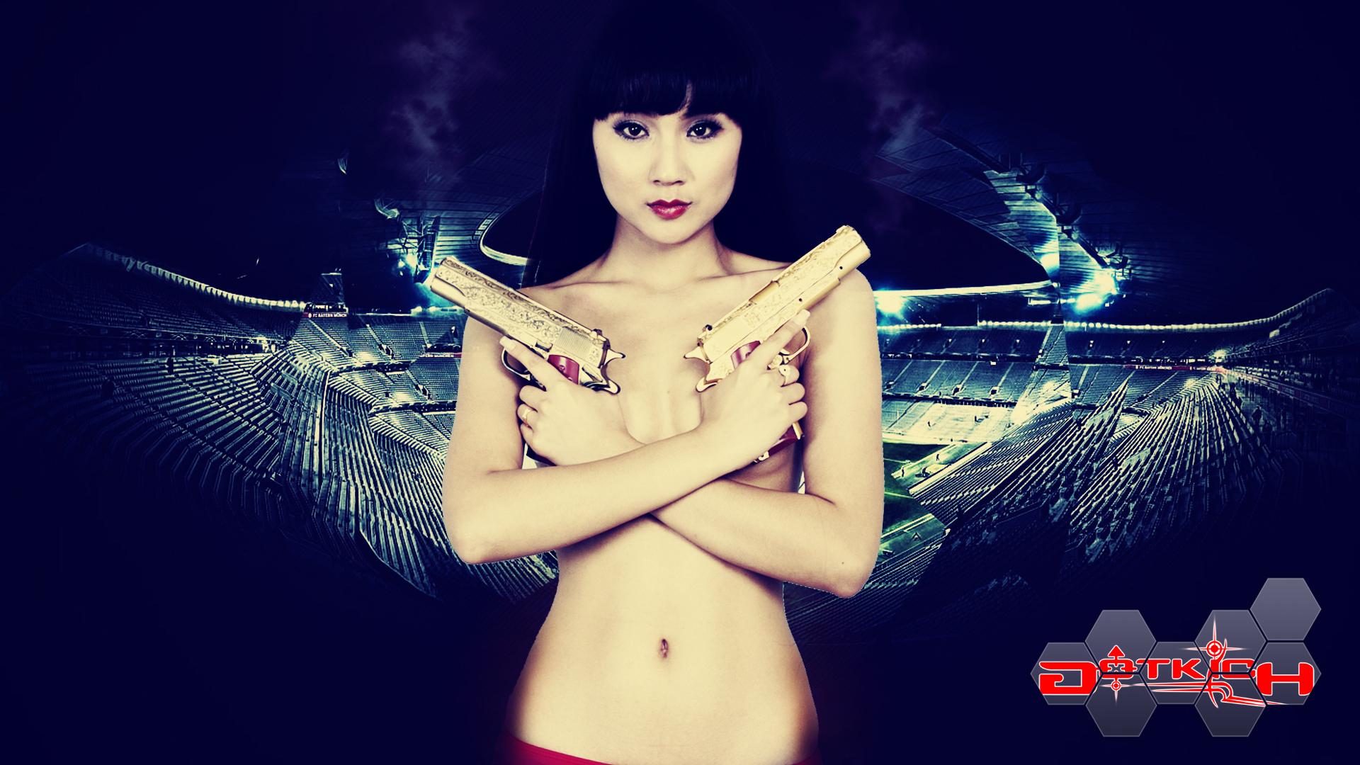 """Hot girl Đột Kích """"khoe ngực"""" đón World Cup 2014 - Ảnh 2"""