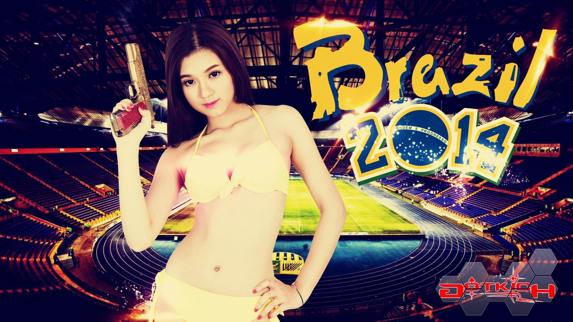 """Hot girl Đột Kích """"khoe ngực"""" đón World Cup 2014 - Ảnh 6"""