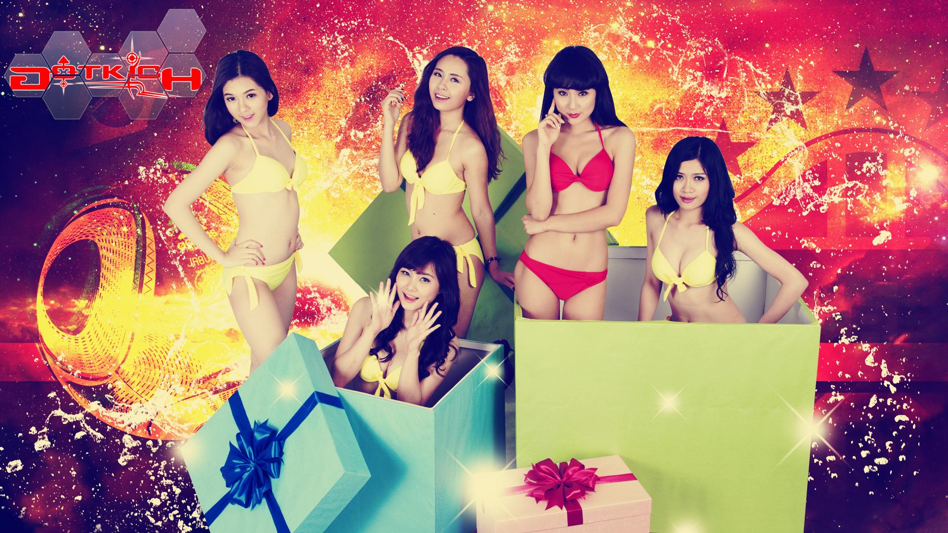 """Hot girl Đột Kích """"khoe ngực"""" đón World Cup 2014 - Ảnh 7"""