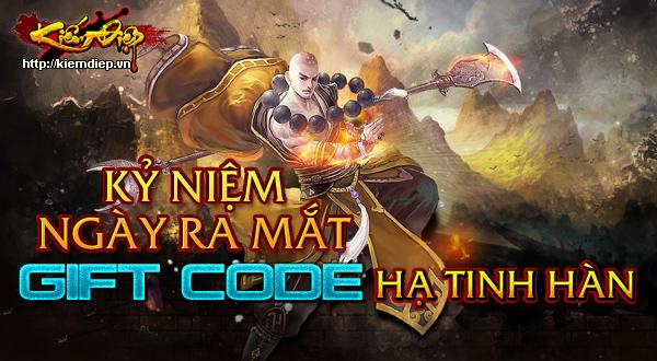 GameLandVN tặng giftcode Hạ Tinh Hàn game Kiếm Điệp 1